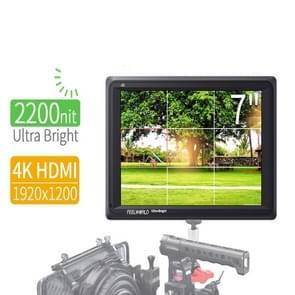 FEELWORLD FW279 7 Inch Ultra Bright 2200nit on Camera Field DSLR Monitor Full HD 1920x1200 4K HDMI Input Output High Brightness for DSLR Stablizer