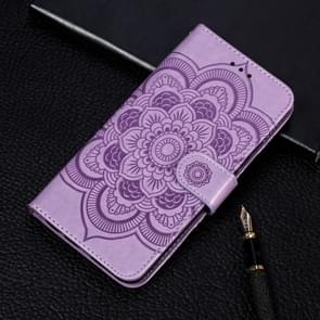 Mandala Embossing Pattern Horizontal Flip Leather Case for iPhone 11 Pro, with Holder & Card Slots & Wallet & Photo Frame & Lanyard(Purple)
