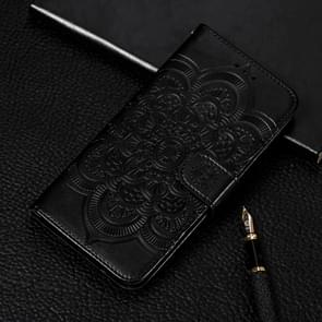 Mandala Embossing Pattern Horizontal Flip Leather Case for Galaxy Note 10, with Holder & Card Slots & Wallet & Photo Frame & Lanyard(Black)
