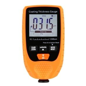 GM998 Digital Thickness Gauges Paint Coating Thickness Gauge Car Thickness Gauges Tester With Backlight Film(Orange)