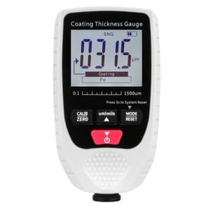 GM998 Digital Thickness Gauges Paint Coating Thickness Gauge Car Thickness Gauges Tester With Backlight Film(White)