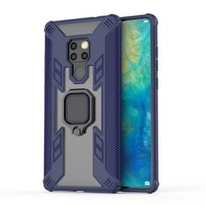 Iron Warrior Shockproof PC + TPU Protective Case for Huawei Mate20, with Ring Holder(Navy blue)