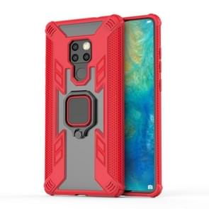 Iron Warrior Shockproof PC + TPU Protective Case for Huawei Mate20, with Ring Holder(Red)