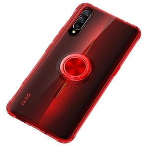 Ultra-thin TPU Protective Case for Vivo IQOO,with 360 Degree Rotation Holder(Red)