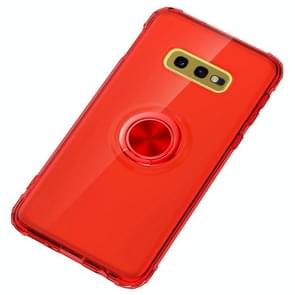 Ultra-thin TPU Protective Case for Galaxy S10e, with 360 Degree Rotation Holder(Red)