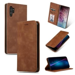 Retro Skin Feel Business Magnetic Horizontal Flip Leather Case for Galaxy Note 10 Pro(Brown)