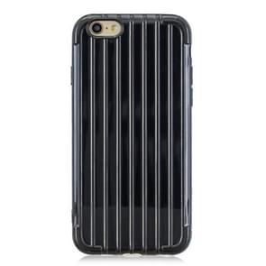 Suitcase Style Striped Soft TPU Case for iPhone 6 & 6s(Black)