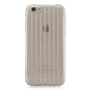 Suitcase Style Striped Soft TPU Case for iPhone 6 Plus & 6s Plus(Transparent)