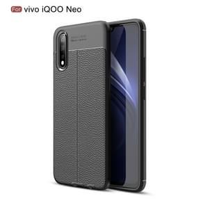 Litchi Texture TPU Shockproof Case for VIVO iQOO Neo(Black)