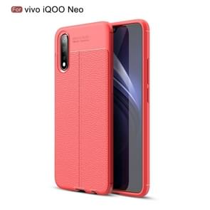 Litchi Texture TPU Shockproof Case for VIVO iQOO Neo(Red)