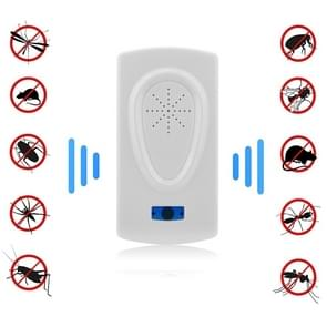 Ultrasound Mouse Cockroach Pest Repeller Device Insect Rats Spiders Mosquito Killer Pest Control Household Pest Rejecter(EU Plug)