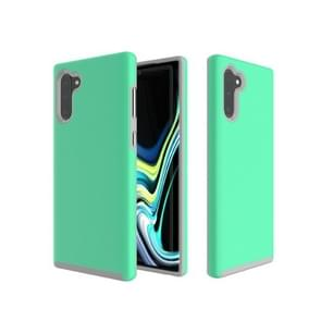 Hard Case  Anti-slip Armor Texture TPU + PC Case for Galaxy Note10+(Green)