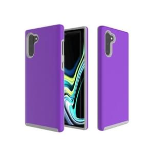 Hard Case  Anti-slip Armor Texture TPU + PC Case for Galaxy Note10+(Purple)
