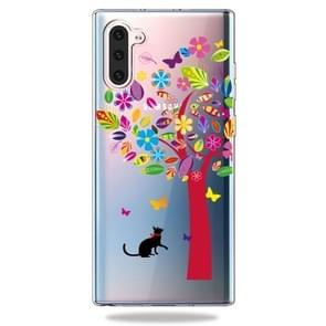 Mode zachte TPU Case 3D Cartoon transparante zachte siliconen cover telefoon gevallen voor Galaxy Note10 (kleur boom)