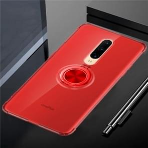 Ultra-thin TPU Protective Case for OnePlus 7 Pro, with 360 Degree Rotation Holder(Red)