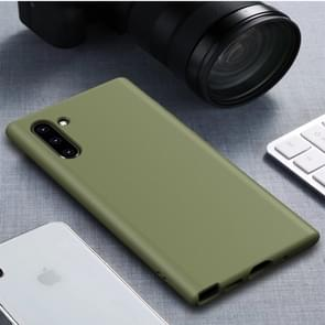 Starry Series Shockproof Straw Material + TPU Protective Case for Galaxy Note 10(Dark Green)