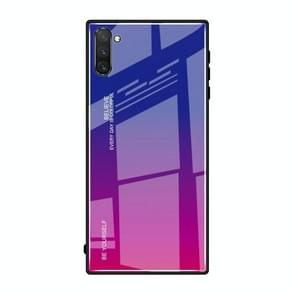 Gradient Color Glass Case for Galaxy Note10+(Red Blue)