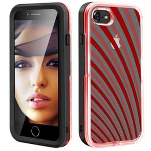 2 in 1 TPU+PC Solid Color Combination Drop For iPhone 8Plus / 7Plus(Black+Red)