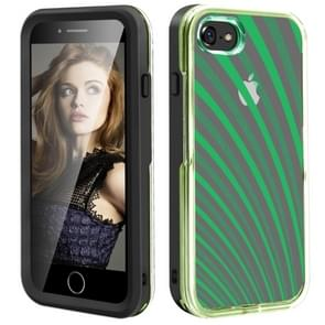 2 in 1 TPU+PC Solid Color Combination Drop For iPhone 8Plus / 7Plus(Black+Green)