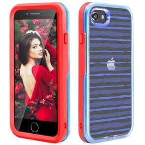 2 in 1 TPU+PC Solid Color Combination Drop For iPhone 8Plus / 7Plus(Red+Blue)
