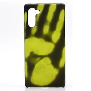 Plak de huid + PC thermische sensor verkleuring beschermende back cover Case voor Galaxy Note10 (zwart wordt groen)