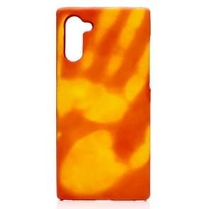 Plak de huid + PC thermische sensor verkleuring beschermende back cover Case voor Galaxy Note10 (rood wordt geel)