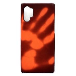Plak de huid + PC thermische sensor verkleuring beschermende back cover Case voor Galaxy Note 10 + (zwart wordt rood)
