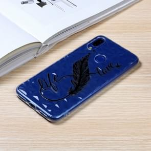 Diamond Pattern Painted TPU Protective Case for Xiaomi Redmi Note7 / Note7 Pro(Feather Pen Pattern)