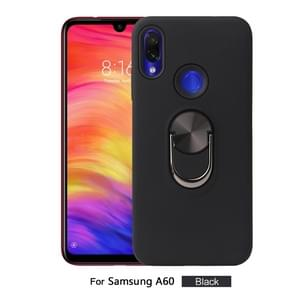 360 Rotary Multifunctional Stent PC+TPU Case for Galaxy A60 ,with Magnetic Invisible Holder(Black)