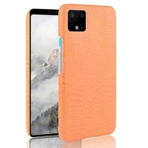 Shockproof Crocodile Texture PC + PU Case For Google Pixel 4 XL(Orange)