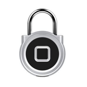 P10 vingerafdruk Lock legering vingerafdruk hangslot Gym kleine Lock kabinet Lock elektronisch slot thuis (zilver)