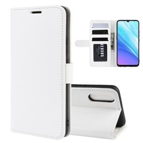 R64 Texture Single Fold Horizontal Flip Leather Case for VIVO Y7s / IQOO Neo, with Holder & Card Slots & Wallet(white)