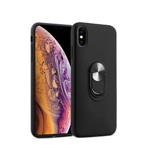 360 Rotary Multifunctional Stent PC+TPU Case for iPhone XS Max,with Magnetic Invisible Holder(Black)