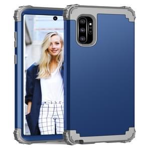 PC + silicone driedelige anti-drop beschermhoes voor Galaxy Note10 + (blauw)
