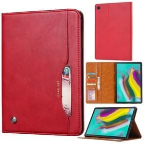Knead huidtextuur horizontaal Flip lederen case voor Galaxy tab A 8 0 (2019) T290/T295  met foto frame & houder & kaartsleuven & portemonnee (rood)