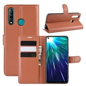 Litchi Texture Horizontal Flip Leather Case for VIVO Z5X/Z1 Pro, with Wallet & Holder & Card Slots(Brown)