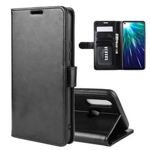 R64 Texture Single Fold Horizontal Flip Leather Case for VIVO Z5X / Z1 Pro, with Holder & Card Slots & Wallet(black)