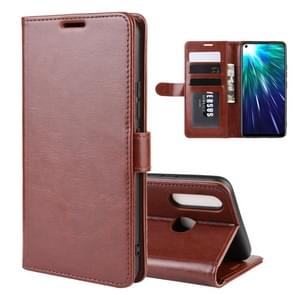 R64 Texture Single Fold Horizontal Flip Leather Case for VIVO Z5X / Z1 Pro, with Holder & Card Slots & Wallet(Brown)