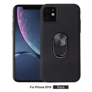 360 Rotary Multifunctionele Stent PC+TPU Case voor iPhone 11  met magnetische onzichtbare houder (zwart)