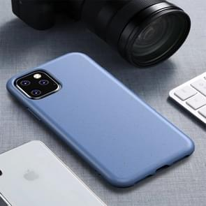 Starry Series Shockproof Straw Material + TPU Protective Case for iPhone XI Max 2019 (Blue)