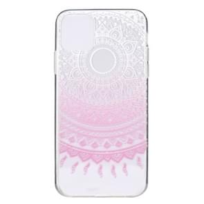 Stylish and Beautiful Pattern TPU Drop Protection Case for iPhone 11 Pro Max(Pink pattern)