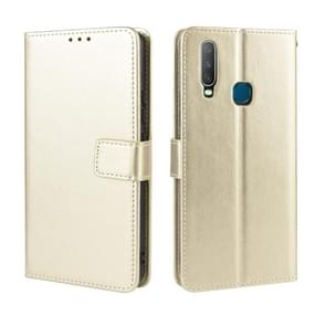 Retro Crazy Horse Texture Horizontal Flip Leather Case for Vivo Y17 / Y15 / Y3, with Holder & Card Slots & Photo Frame(Gold)