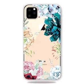 Print patroon zachte TPU mobiele telefoon Cover Case voor iPhone 11 Pro (de stenen bloem)