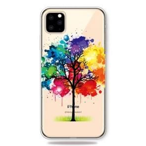 Print patroon zachte TPU mobiele telefoon Cover Case voor iPhone 11 Pro (schilderij boom)