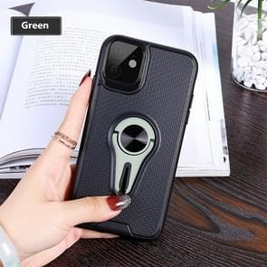 Non-slip Y-shaped TPU Mobile Phone Case with Rotating Car Bracket for iPhone 11(Green)
