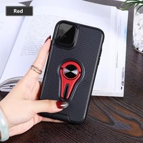 Non-slip Y-shaped TPU Mobile Phone Case with Rotating Car Bracket for iPhone 11 Pro(Red)