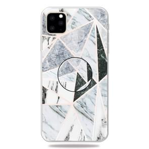 3D Marble Soft Silicone TPU Case Cover with Bracket for iPhone XI Max 2019(Polytriangle)