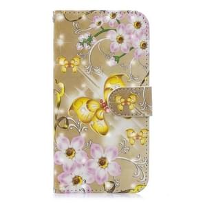3D Painting Pattern Coloured Drawing Horizontal Flip PU Leather Case with Holder & Card Slots & Wallet For Huawei P30(The Golden Butterfly)