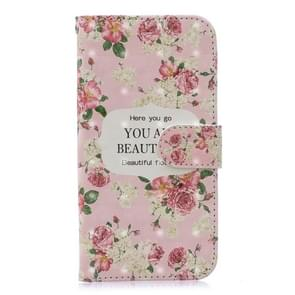 3D Painting Pattern Coloured Drawing Horizontal Flip PU Leather Case with Holder & Card Slots & Wallet For Huawei P30 Lite(Rose)