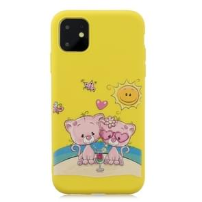 Frosted Pattern TPU Protective Case for iPhone 11(Lovers Bear)
